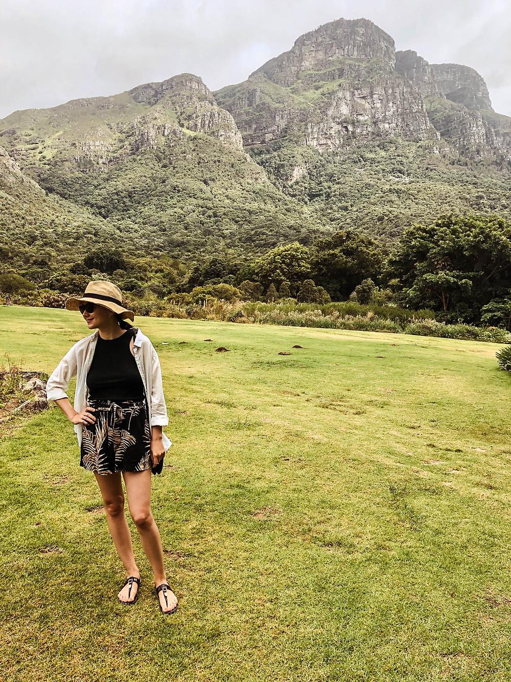 Enjoying some of Kirstenbosch's beautiful lawns