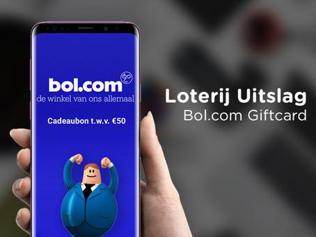 Bol.com Giftcard - Loterij Uitslag