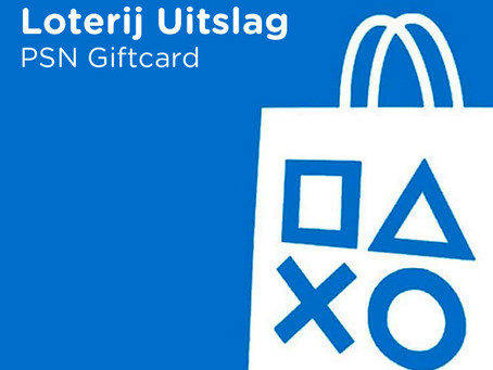 PSN Giftcard - Loterij Uitslag