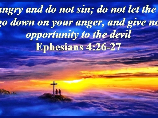 BE ANGRY-BUT DON'T SIN