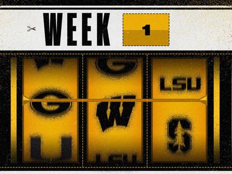 College Football Returns: Week 1 Notes