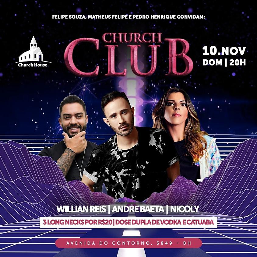 CLUB CHURCH - Domingo 10/11 - 20hs