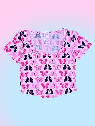 Izzy Tee - Pink Butterflies