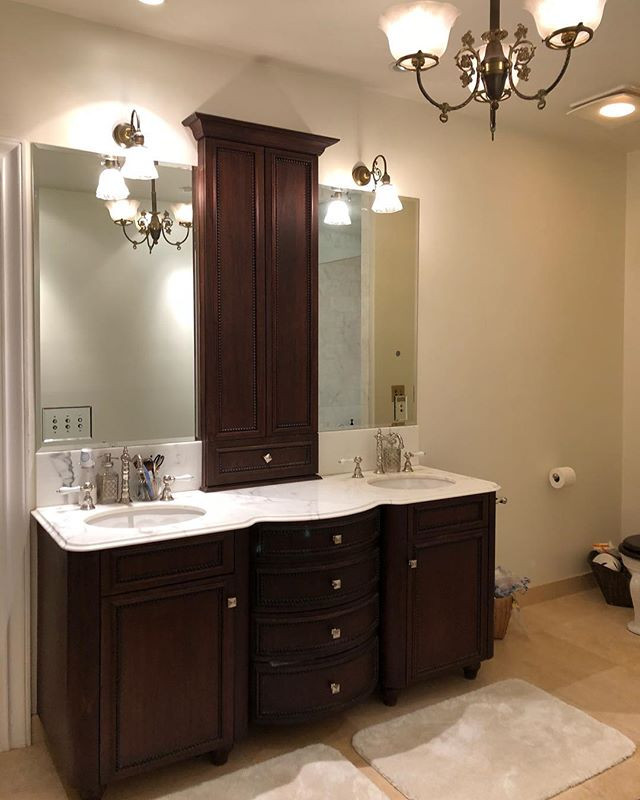 Custom made vanity and medicine cabinet in the Mission area