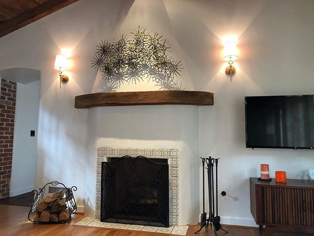 Main fireplace at this beautiful house