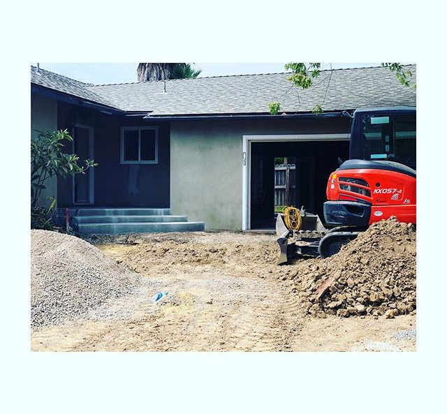 Prepping for a new driveway