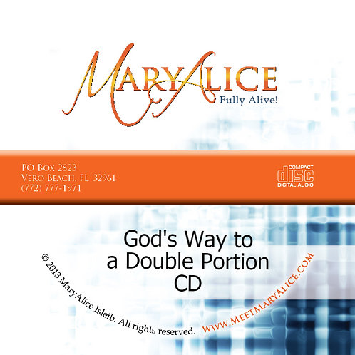 God's Way to a Double Portion - CD