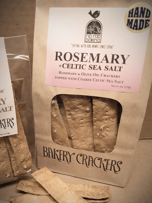 Rosemary & Celtic Sea Salt Bakery Crackers