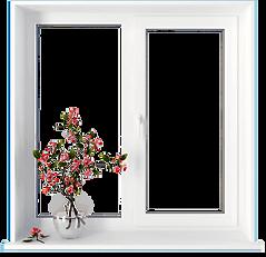 Двухстворчатое окно 1400×1300 мм    Цена от 6500р/шт  Цена под ключ от 12000р/шт