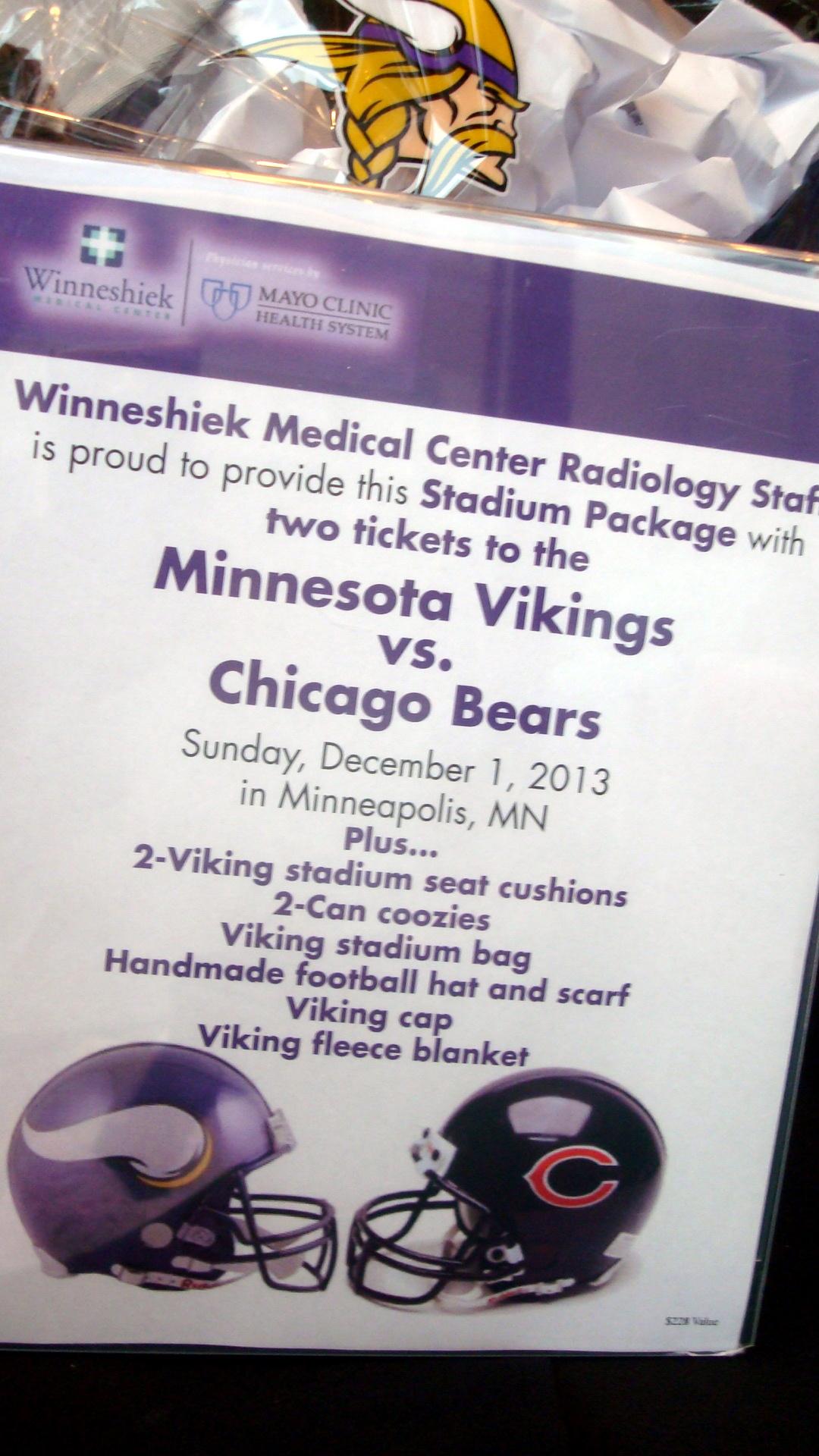 Viking vs. Bears Stadium Package