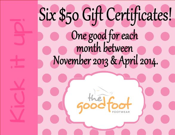 Kick it up! $300 of Gift Certificate