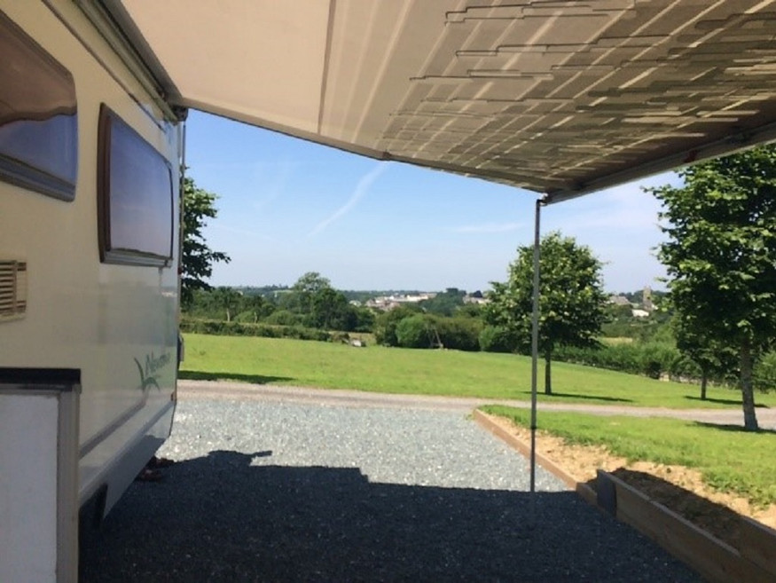 Camper Van view from pitch 4