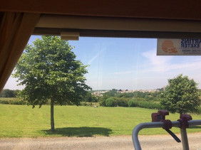 Camper Van view from rear window pitch 4