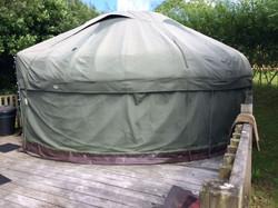 yurt and decking