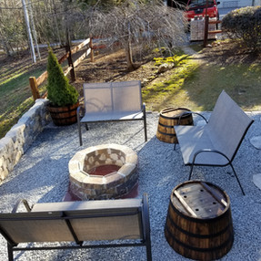Newly renovated firepit area
