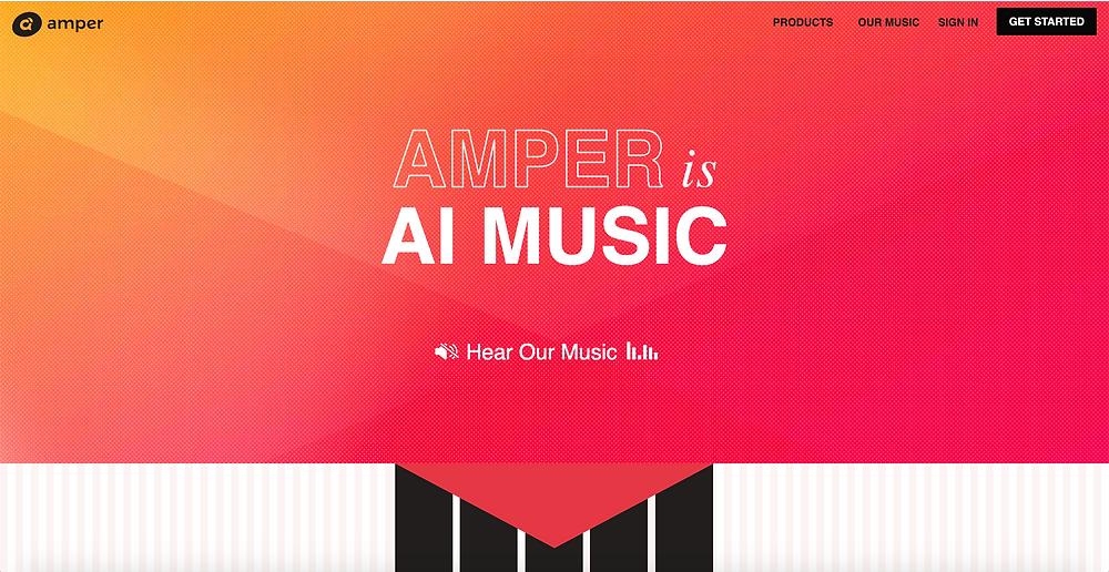 Amper Music Website