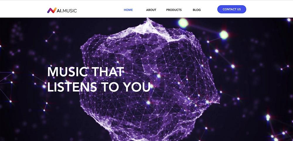 AI. Music - Website