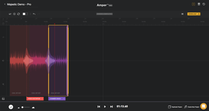 Amper Music Interface - The 'Pro' Version - Screenshot