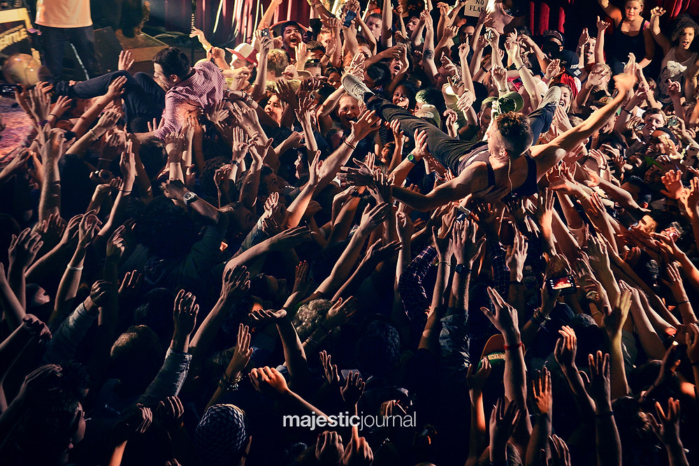 Macklemore Crowd Surfing Concert Photograph