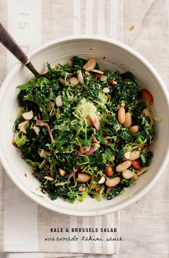 Avocado Tahini Kale Salad