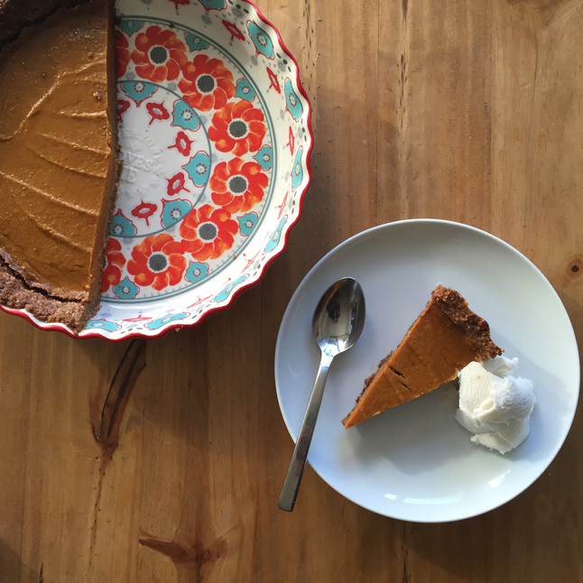 Pumpkin Pie with Ginger Spice Crust