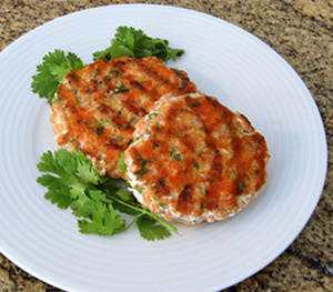 Salmon Burgers with Pickled Ginger and Cilantro