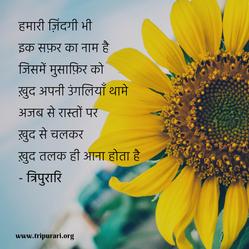 hamari zindagi bhi ik safar ka naamhai by tripurari