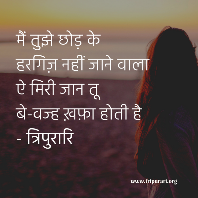 main tujhe chhod ke hargiz nahi jaane wala by tripurari