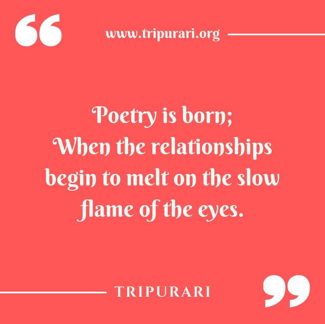 poetry is born by tripurari