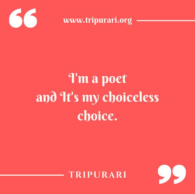 i am a poet by tripurari