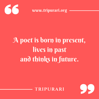 a poet is born by tripurari
