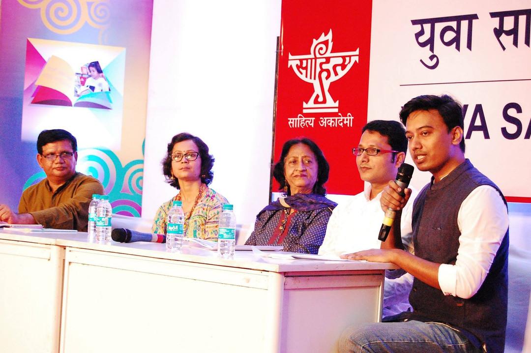 tripurari, sahitya akademy event