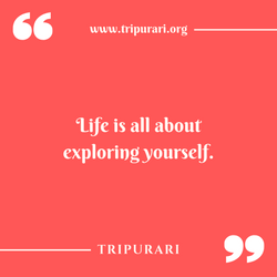 life is all about by tripurari