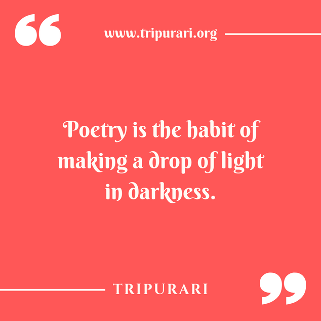 poetry is the habit