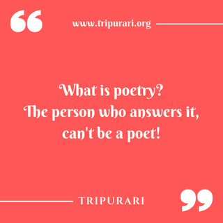 what is poetry by tripurari