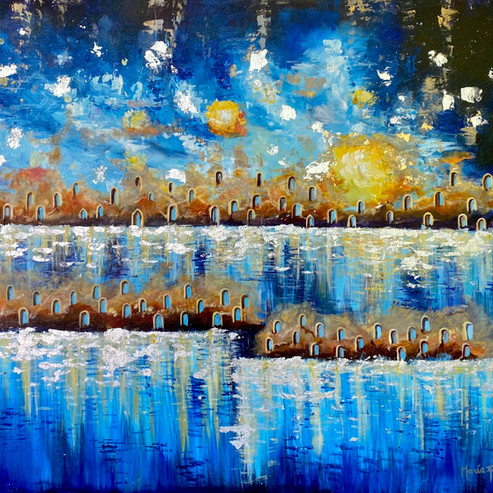 Primer Sueño  36 x 48 inches Acrylic on Canvas   -Available-
