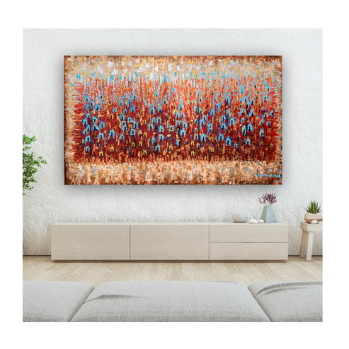 Segundo Sueño 48 x 80 inches  Acrylic on Canvas  -Private Collection-