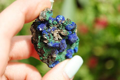 Small Azurite & Malachite Chunk | Blue Crystal | Mineral  | Rock | Chakra