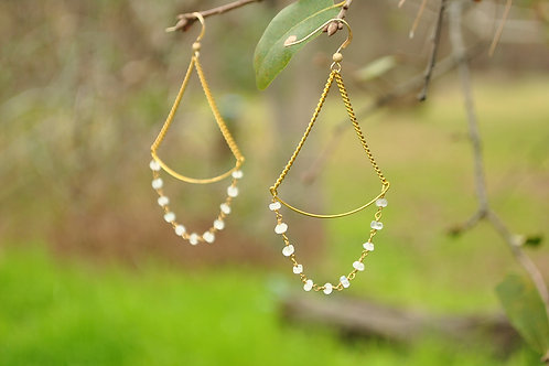 Quartz Gold Earrings