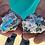 Thumbnail: Cavansite on Stilbite   Mineral Specimen Cavansite   Vivid Blue Mineral