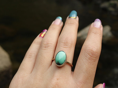 Silver Turquoise Ring (Size 7)