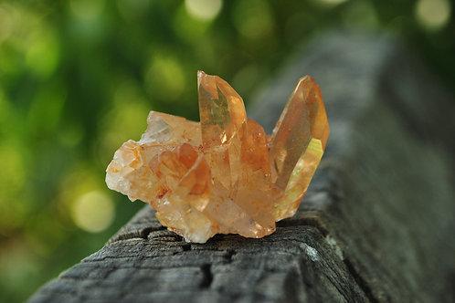 Tangerine Quartz Crystal   Quartz   Tangerine   Orange   Mineral   Crystal