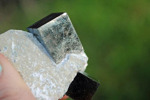 Pyrite Cube in Matrix | Fool's Gold | Cubic | Metallic Crystal | Healer's Gold