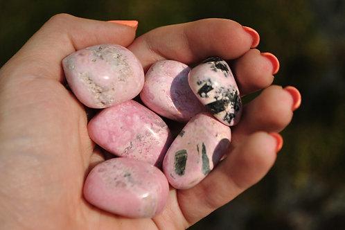 Large Tumbled Rhodonite Stones