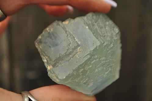 Aqua Fluorite Crystal