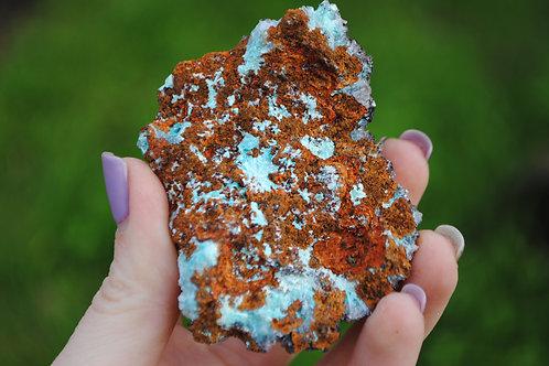 Rosasite & Associated Minerals   Aqua Mineral   Crystal   Chakra