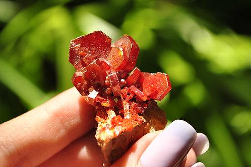 Vanadinite   Barite   Orange   Red   Crystal   Mineral   Rock   Root Chakra   Cr