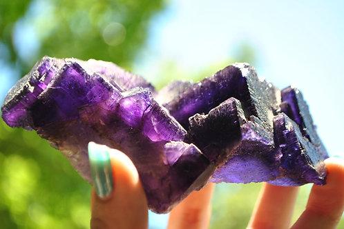 Purple Fluorite   Fluorite   Rock & Mineral   Crystal   Crystal Healing   Chakra