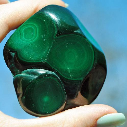 Polished Malachite | Green Stone | Mineral | Travelers Stone | Chakra
