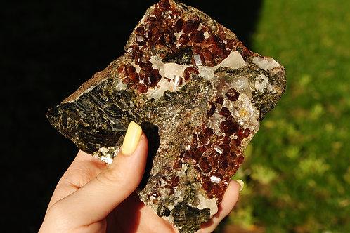 Garnet Epidote & Calcite | Crystal Collage | Mineral Healing | Chakra